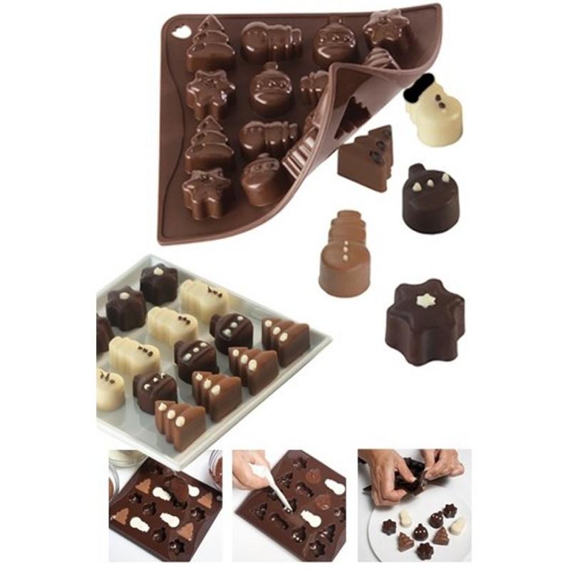 Stampo In Silicone Per Cioccolatini Natalizi Pavoni