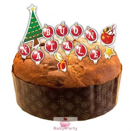 Scritta Buon Natale Per Torta E Panettone Natalizio GiVi