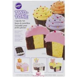 Set Cupcake Scacchiera In Acciaio 12 Cavità Wilton