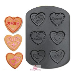 Stampo In Acciaio Antiaderente Per Biscotti A Cuore 6 Cavità Wilton