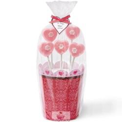 Scatola porta lolli pops San Valentino 2 pz Wilton