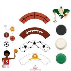 Kit Cupcake Sport 36 pz Decora