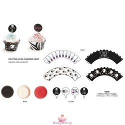Kit Cupcakes Pirati 36 pz Decora