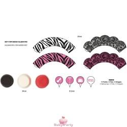Kit Cupcakes Glamour 36 pz Decora