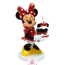 Candelina Minnie In Cera Per Torta Di Compleanno