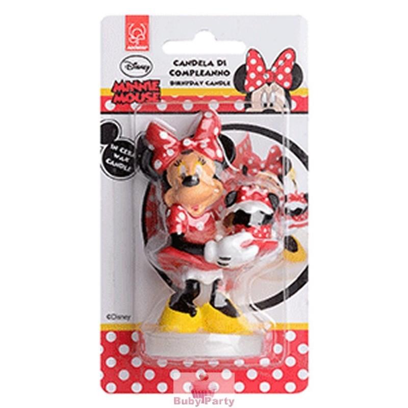 Candelina Minnie In Cera Per Torta Di Compleanno Buby Party Store