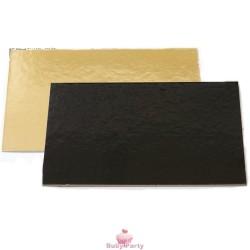 Sottotorta Rettangolare Accoppiato Nero E Oro Decora