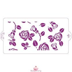Stencil Rose per decorazioni su pasta di zucchero Decora