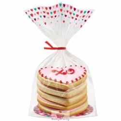 Kit 8 sacchetti vassoi e laccetto porta dolcetti San Valentino Wilton