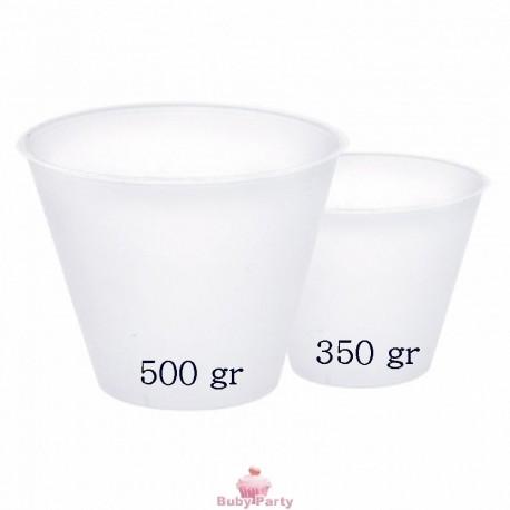 Base in plastica per uovo di cioccolato da 500 gr Decora