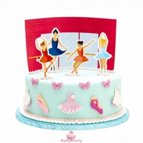 Kit torta Ballerine 5 pz Decora
