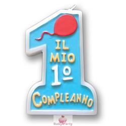 Candela Torta 1 Compleanno Celeste Magic Party