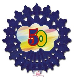 Festone ruota 50° compleanno blu Magic Party
