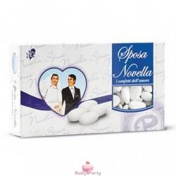 Confetti Bianchi Con Mandorla Sposa Novella 1 kg Maxtris