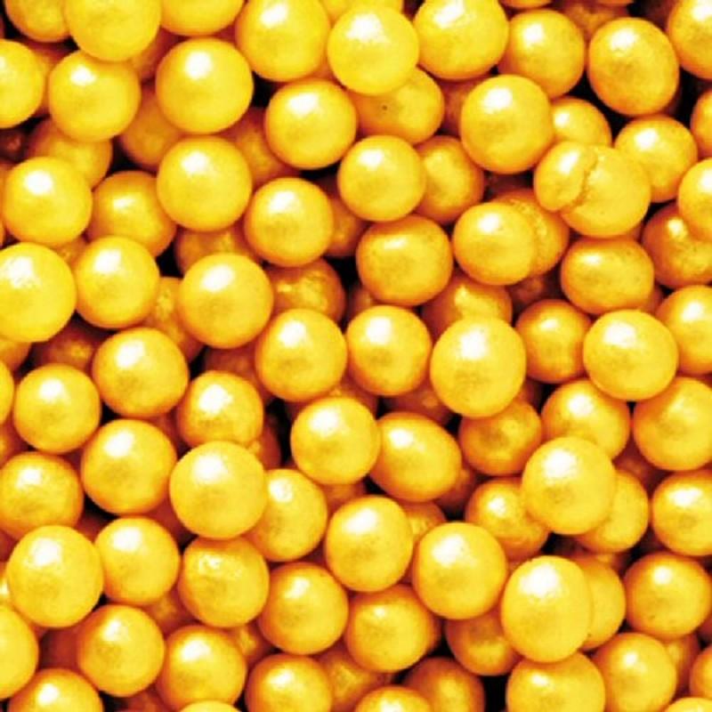 Perle Di Zucchero Dorate Professionali 1 kg Decora