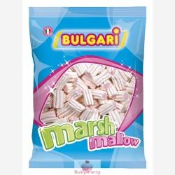 Marshmallow estruso striato bianco e rosa 1 kg Bulgari