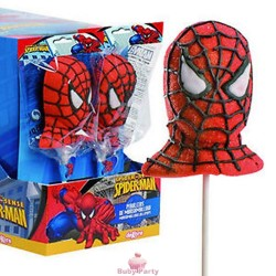 Lecca lecca Spiderman in marshmallow 12 pz
