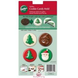 Stampo per cioccolatini albero e Babbo Natale Wilton