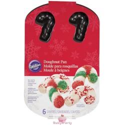 Piastra Antiaderente Per Biscotti Forma Candy Canes 6 Cavità Wilton