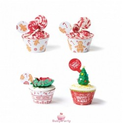 Wrapper Gingerbread Per Decorare Cupcake 24 pz Decora