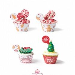 Wrapper Gingerbread per decorare cupcake 24 pz Decora
