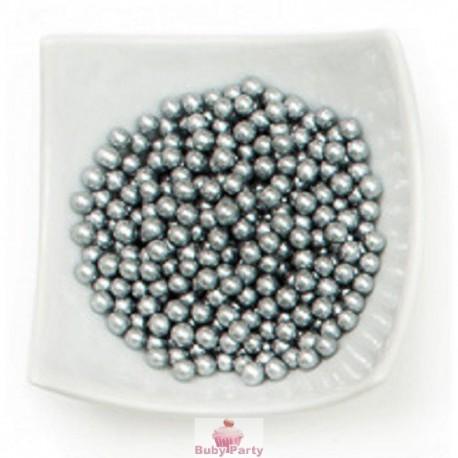 Perle Di Zucchero Argento 100g Decora