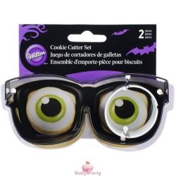 Set 2 Tagliapasta In Metallo Occhiali E Bulbo Oculare Wilton