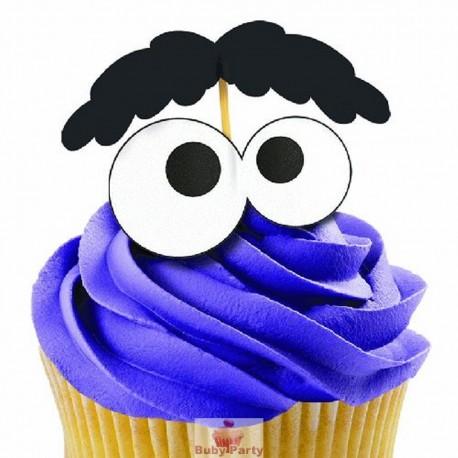 12 Pick Per Cupcake Occhio 3D Wilton