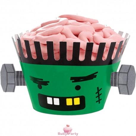 12 Avvolgi Muffin Halloween Frankenstein