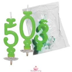 Candela Numero Verde Per Torta di Compleanno