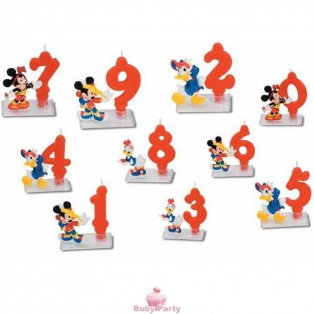 Candela Numero Rosso con Soggetto Disney