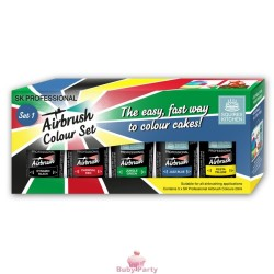 5 Coloranti Alimentari Per Aerografo Professionali 20 ml Squires Kitchen