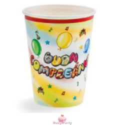 10 Bicchieri Buon Compleanno Murales Magic Party