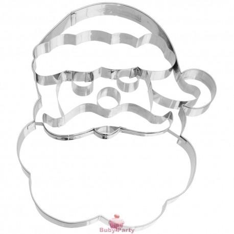 Tagliapasta In Acciaio Viso Babbo Natale Grande 19 cm Birkmann