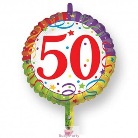 Palloncino Mylar 50 Compleanno cm 45 Magic Party