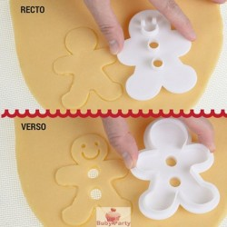 Tagliapasta Ad Incisione Omino Gingerbread Modecor