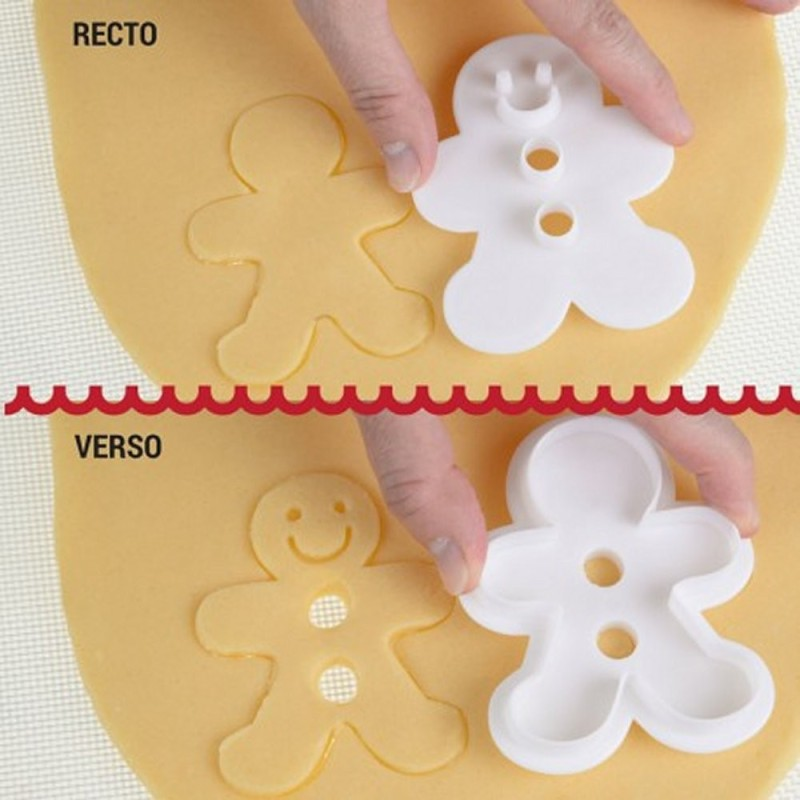 Tagliapasta Ad Incisione Omino Gingerbread Modecor