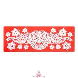Stampo In Silicone Per Pizzi Natalizi Sweet Lace Express Ghirlanda