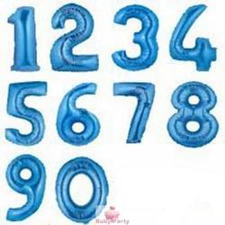 Pallone Mylar Numero Blu 102 cm