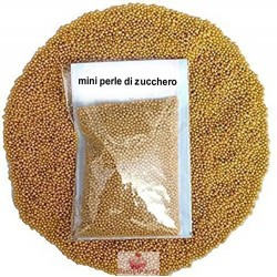 Perline Di Zucchero Oro Decorative 100g Decora