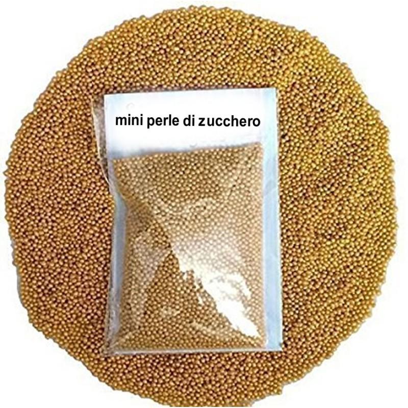 Perline Di Zucchero Oro Decorative 100g Decora