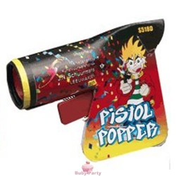 6 Pistoline Party Popper Spara Stelle Filanti