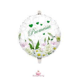 Palloncino Promessa Matrimonio Bouquet In Mylar Ø 45 cm Big Party