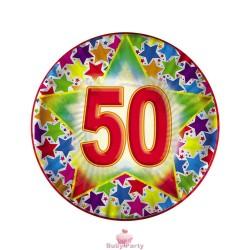 10 Piatti Stardast 50 Compleanno Ø 18 cm Big Party