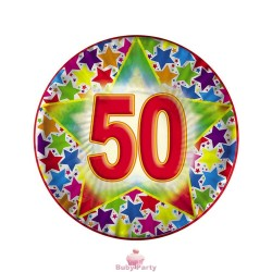 10 Piatti Stardust 50 Compleanno Ø 18 cm Big Party