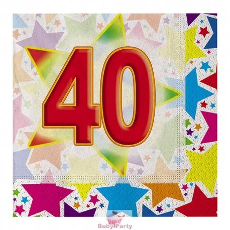 20 Tovaglioli 40° Compleanno Stardust Big Party
