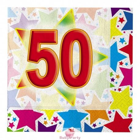 20 Tovaglioli 50° Compleanno Stardust Big Party