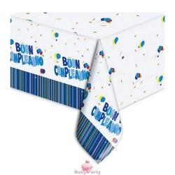 Tovaglia Buon Compleanno Celeste 140x270 cm Big Party