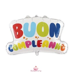 Maxi Pallone Mylar Buon Compleanno Magic Party