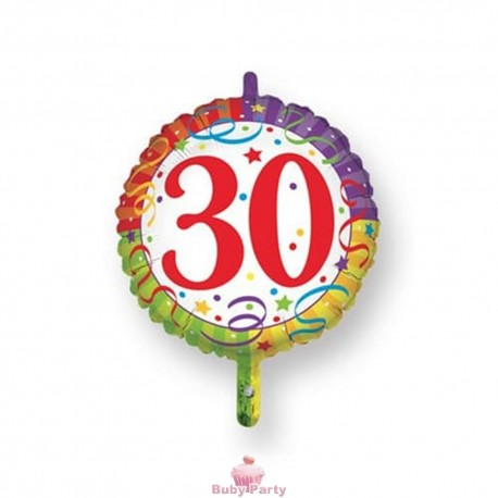 Palloncino Mylar 30 Compleanno Ø 45 cm Magic Party